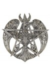 Crescent Raven Large Pentacle Plaque