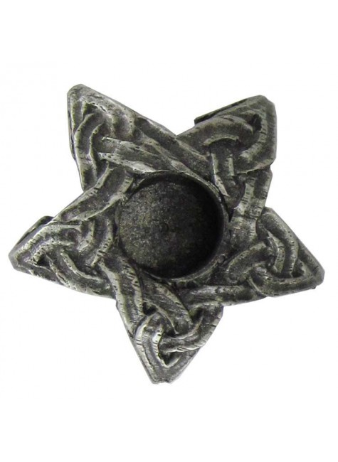 Pentagram Mini Pewter Candle Holder at Gothic Plus, Gothic Clothing, Jewelry, Goth Shoes & Boots & Home Decor