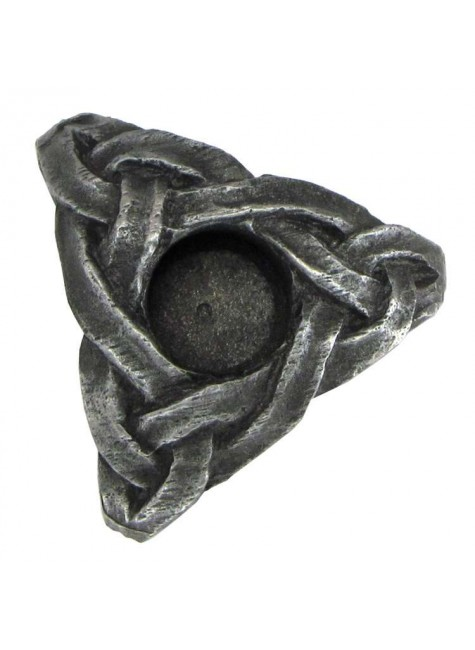 Triskelion Mini Pewter Candle Holder at Gothic Plus, Gothic Clothing, Jewelry, Goth Shoes & Boots & Home Decor