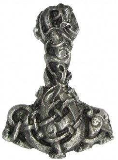 Urnes Style Pewter Thors Hammer Pendant Gothic Plus Gothic Clothing, Jewelry, Goth Shoes & Boots & Home Decor