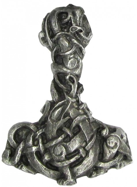 Urnes Style Pewter Thors Hammer Pendant at Gothic Plus, Gothic Clothing, Jewelry, Goth Shoes & Boots & Home Decor