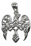 Raven Pentacle Sterling Silver Small Morrigan Pendant
