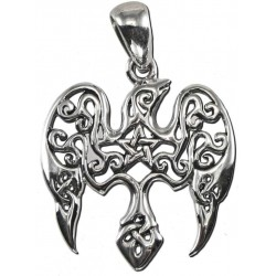 Raven Pentacle Sterling Silver Small Morrigan Pendant Gothic Plus  Gothic Clothing, Jewelry, Goth Shoes, Boots & Home Decor