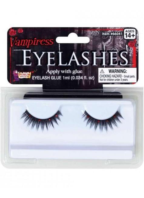Vampiress Eyelashes at Gothic Plus, Gothic Clothing, Jewelry, Goth Shoes & Boots & Home Decor