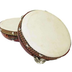 Tambourine Drum 6 Inches Gothic Plus Gothic Clothing, Jewelry, Goth Shoes & Boots & Home Decor