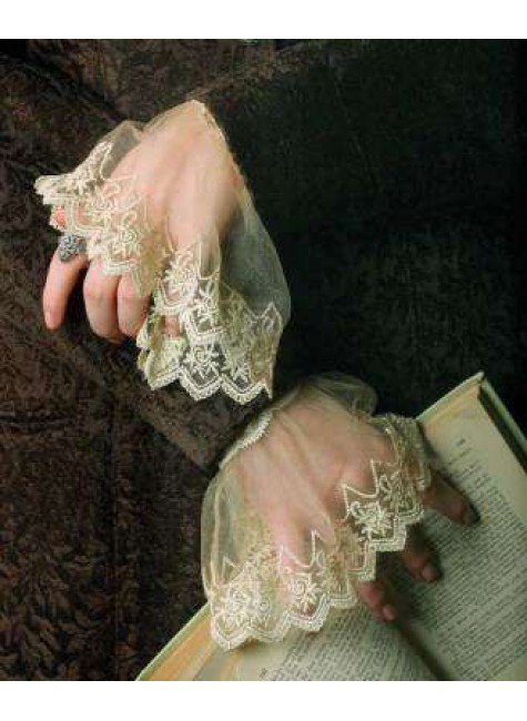 Elizabethan Lace Cuffs at Gothic Plus, Gothic Clothing, Jewelry, Goth Shoes & Boots & Home Decor