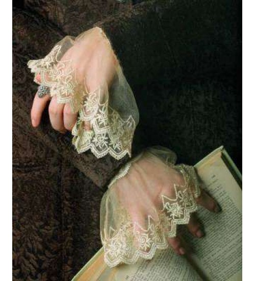 Elizabethan Lace Cuffs at Gothic Plus,  Gothic Clothing, Jewelry, Goth Shoes, Boots & Home Decor