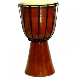 Djembe Drum Plain Red Mahogany Finish Drum Gothic Plus Gothic Clothing, Jewelry, Goth Shoes & Boots & Home Decor
