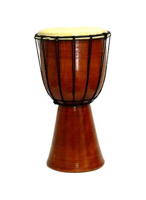 Djembe Drum Plain Red Mahogany Finish Drum at Gothic Plus, Gothic Clothing, Jewelry, Goth Shoes & Boots & Home Decor
