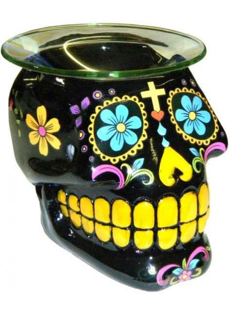 Black Sugar Skull Oil Burner at Gothic Plus, Gothic Clothing, Jewelry, Goth Shoes & Boots & Home Decor