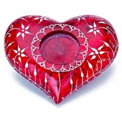 Red Heart Soapstone Candle Holder Gothic Plus Gothic Clothing, Jewelry, Goth Shoes & Boots & Home Decor