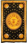 Solar Eclipse Gold Tapestry Bedspread