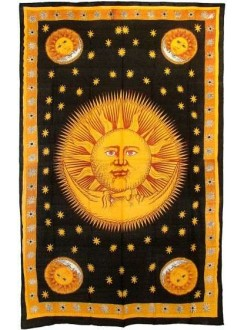 Solar Eclipse Gold Tapestry Bedspread Gothic Plus Gothic Clothing, Jewelry, Goth Shoes & Boots & Home Decor
