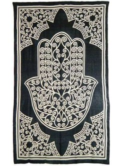 Hamsa Hand of Protection Cotton Full Size Bedspread Gothic Plus Gothic Clothing, Jewelry, Goth Shoes & Boots & Home Decor