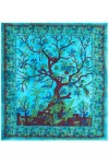 Tree of Life Blue Double Tapestry