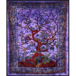 Tree of Life Purple Double Tapestry Gothic Plus Gothic Clothing, Jewelry, Goth Shoes & Boots & Home Decor