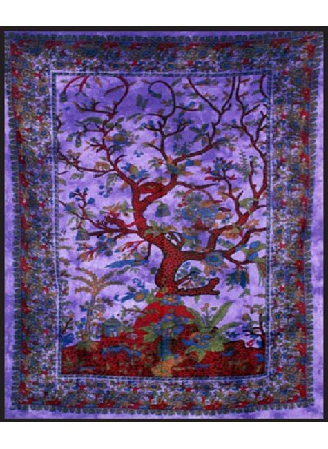Tree of Life Purple Double Tapestry at Gothic Plus, Gothic Clothing, Jewelry, Goth Shoes & Boots & Home Decor