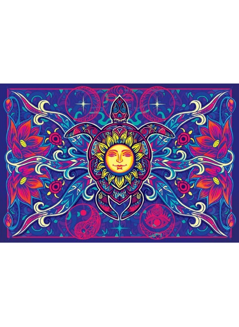 Turtle Moon Cotton Bedspread in 3D at Gothic Plus, Gothic Clothing, Jewelry, Goth Shoes & Boots & Home Decor