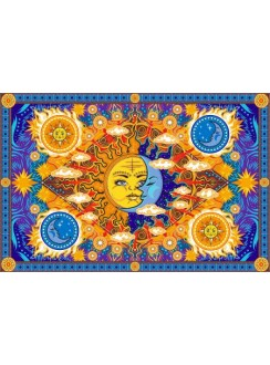Firey Sun and Moon Cotton Bedspread Gothic Plus Gothic Clothing, Jewelry, Goth Shoes & Boots & Home Decor