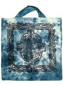 Celtic Cross Cotton Tote Bag Gothic Plus Gothic Clothing, Jewelry, Goth Shoes & Boots & Home Decor