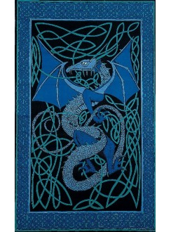 Celtic English Dragon Tapestry - Twin Size Blue Gothic Plus Gothic Clothing, Jewelry, Goth Shoes & Boots & Home Decor