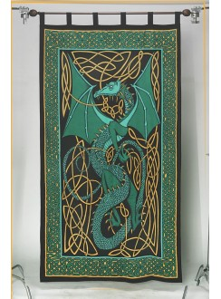 Celtic English Dragon Curtain - Green Gothic Plus Gothic Clothing, Jewelry, Goth Shoes & Boots & Home Decor