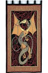 Celtic English Dragon Curtain - Red