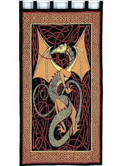 Celtic English Dragon Curtain - Red Gothic Plus Gothic Clothing, Jewelry, Goth Shoes & Boots & Home Decor
