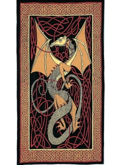 Celtic English Dragon Tapestry - Twin Size Red Gothic Plus Gothic Clothing, Jewelry, Goth Shoes & Boots & Home Decor