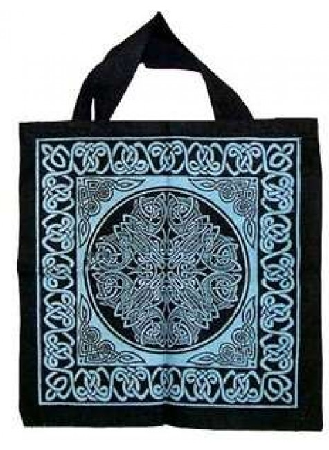 Celtic Knotwork Cotton Tote Bag at Gothic Plus, Gothic Clothing, Jewelry, Goth Shoes & Boots & Home Decor