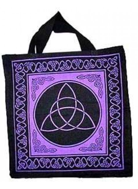 Triquetra Charmed Symbol Cotton Tote Bag at Gothic Plus, Gothic Clothing, Jewelry, Goth Shoes & Boots & Home Decor