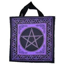 Pentagram Cotton Tote Bag Gothic Plus Gothic Clothing, Jewelry, Goth Shoes & Boots & Home Decor