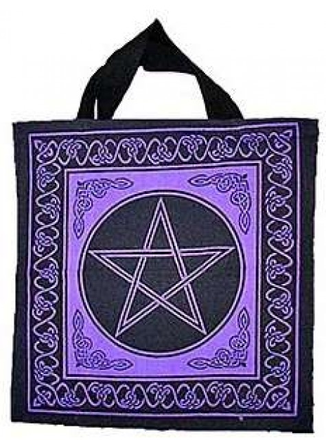 Pentagram Cotton Tote Bag at Gothic Plus, Gothic Clothing, Jewelry, Goth Shoes & Boots & Home Decor