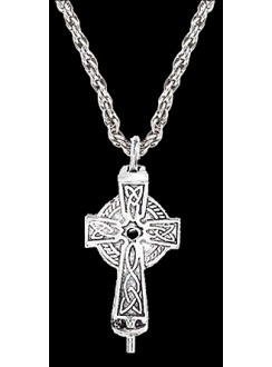 Celtic Cross Aromatherapy Diffuser Pendant Gothic Plus Gothic Clothing, Jewelry, Goth Shoes & Boots & Home Decor