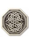 Celtic Serpent Porcelain Octagonal Necklace