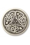 Celtic Serpent Porcelain Round Necklace
