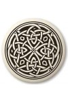 Celtic Spiritual Journey Porcelain Round Necklace
