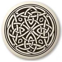 Celtic Spiritual Journey Porcelain Round Necklace Gothic Plus  Gothic Clothing, Jewelry, Goth Shoes, Boots & Home Decor