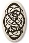 Celtic Spiritual Journey Porcelain Oval Necklace