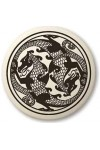 Dragon Round Porcelain Necklace