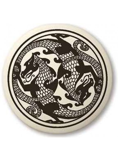 Dragon Round Porcelain Necklace at Gothic Plus, Gothic Clothing, Jewelry, Goth Shoes & Boots & Home Decor