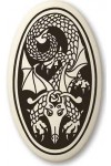 Dragon Oval Celtic Porcelain Necklace
