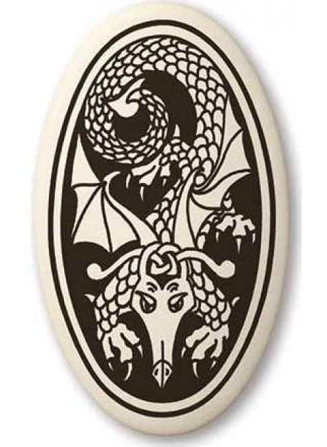 Dragon Oval Celtic Porcelain Necklace at Gothic Plus, Gothic Clothing, Jewelry, Goth Shoes & Boots & Home Decor