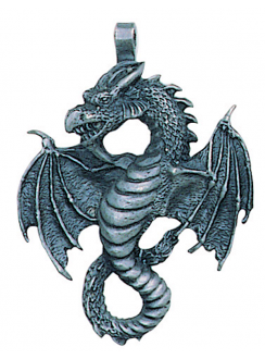 Air Dragon Pewter Necklace Gothic Plus Gothic Clothing, Jewelry, Goth Shoes & Boots & Home Decor