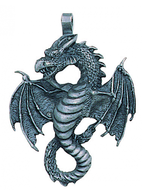 Air Dragon Pewter Necklace at Gothic Plus, Gothic Clothing, Jewelry, Goth Shoes & Boots & Home Decor