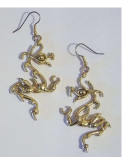 Bronze Dragon Earring Pair Gothic Plus Gothic Clothing, Jewelry, Goth Shoes & Boots & Home Decor