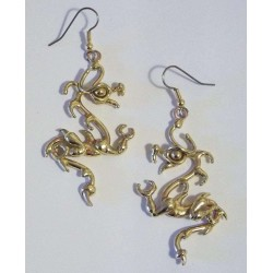 Bronze Dragon Earring Pair Gothic Plus  Gothic Clothing, Jewelry, Goth Shoes, Boots & Home Decor