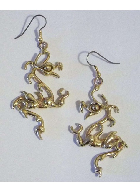 Bronze Dragon Earring Pair at Gothic Plus, Gothic Clothing, Jewelry, Goth Shoes & Boots & Home Decor