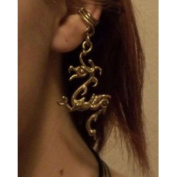 Bronze Dragon Ear Cuff Gothic Plus  Gothic Clothing, Jewelry, Goth Shoes, Boots & Home Decor