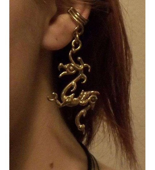 Bronze Dragon Ear Cuff at Gothic Plus,  Gothic Clothing, Jewelry, Goth Shoes, Boots & Home Decor
